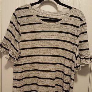 Lane Bryant  Flutter Sleeve T-Shirt